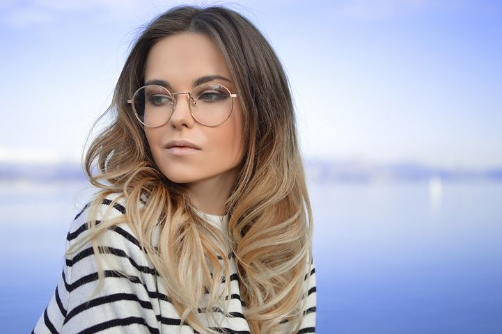 woman wearing stylish glasses