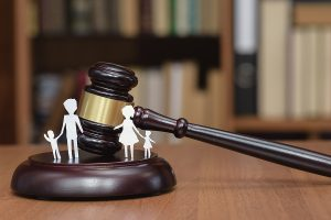 Court and the rights of the family and children. Family law in Sydney concept.