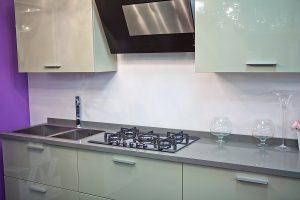 Modern kitchen with splashbacks