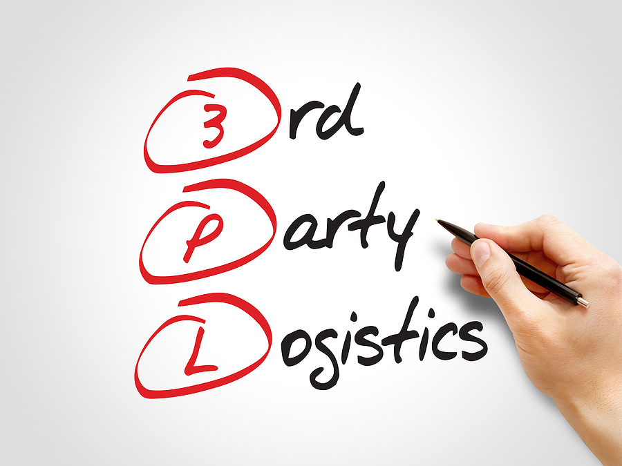 3PL - 3rd Party Logistics acronym business concept