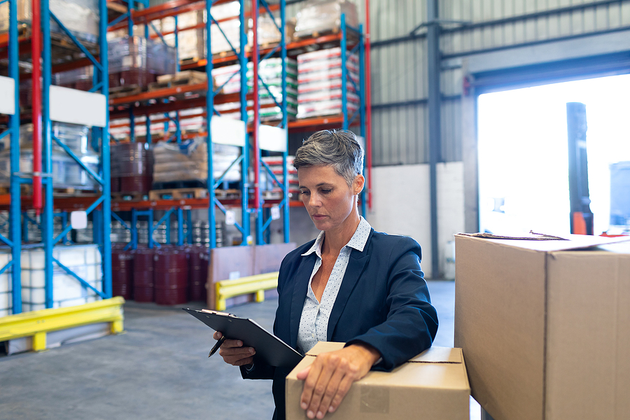 Female manager of a 3PL warehouse business