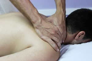 Man getting chiropractic service